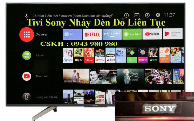 Khắc Phục Tivi Sony nháy đèn đỏ liên tục